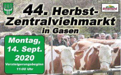 44. Herbst-Zentralviehmarkt in Gasen