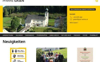 Neue Homepage der Pfarre Gasen