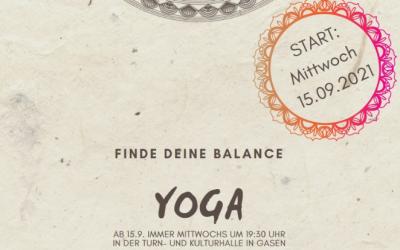 Yogakurs in der Turn- und Kulturhalle in Gasen